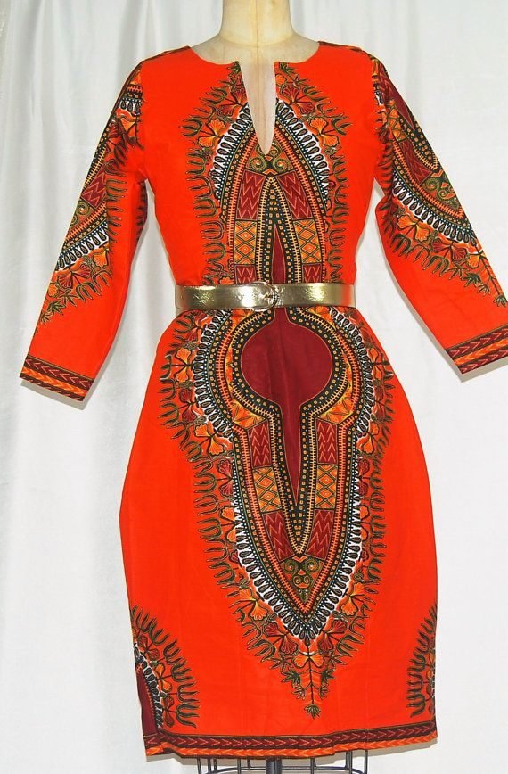 Elegant African Print Dashiki Dress Women 39 S Clothing