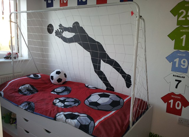 Football Themed Bedroom Entrancing Soccer Bedroom Decoration Is Perfect For Little Boys  Decor Art Design Inspiration