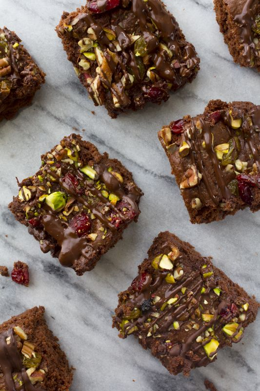 Trail Mix Brownies | Healthy Seasonal Recipes @Katie Schmeltzer Webster