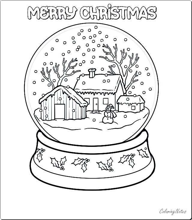 Snow Globe Christmas Coloring Pages Free Printable Christmas Coloring Pages Free Christmas Coloring Pages Coloring Pages