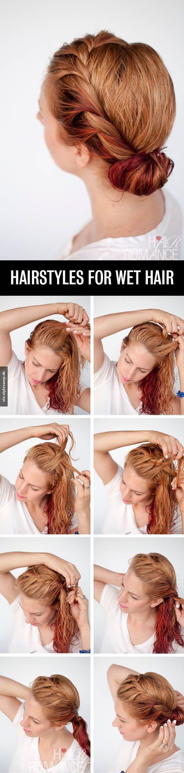 Frisur Fur Nasse Haare Hair Makeup In 2019 Frisuren Anleitung
