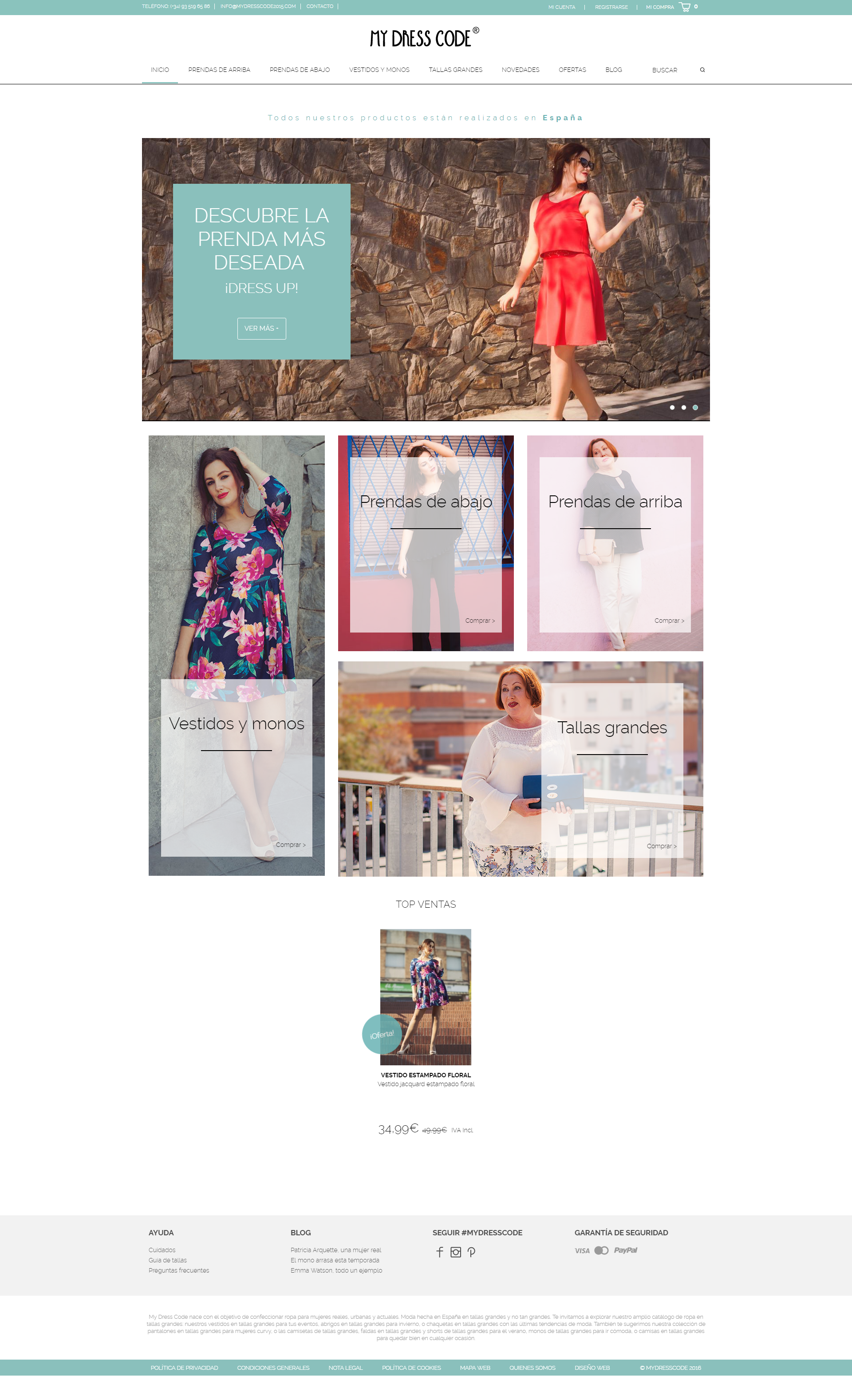 34730e53a9 Diseño web y plan de marketing online para My Dress Code ...