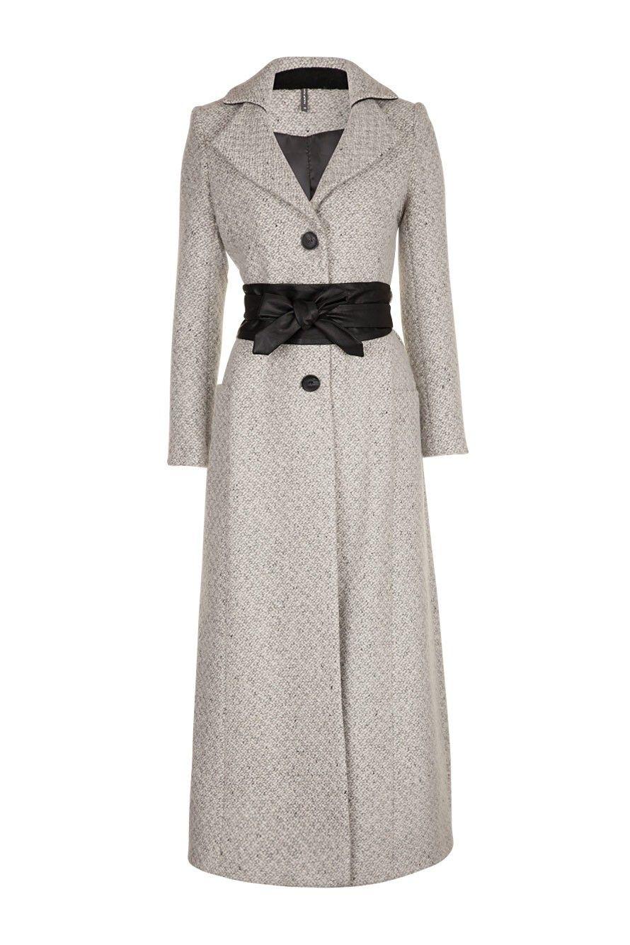 la vente de chaussures super promotions Livraison gratuite dans le monde entier Manteau long ceinturé gris clair Naf Naf | pretty | Fashion ...