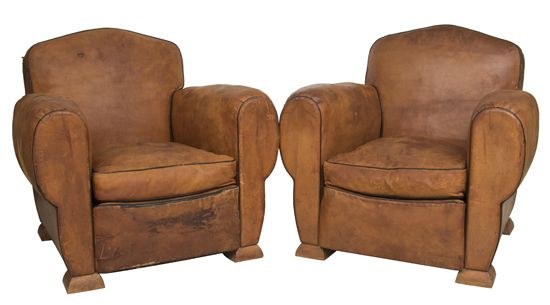 Superb Pair Of 1940S Odeon Leather Club Chairs Upcycled Vintage Evergreenethics Interior Chair Design Evergreenethicsorg