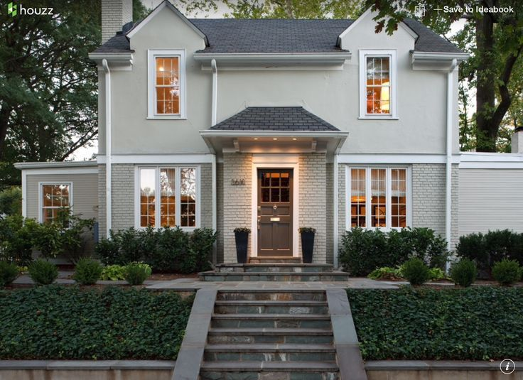 Annapolis Gray Exterior House Color Light Warm Grey Bm And White