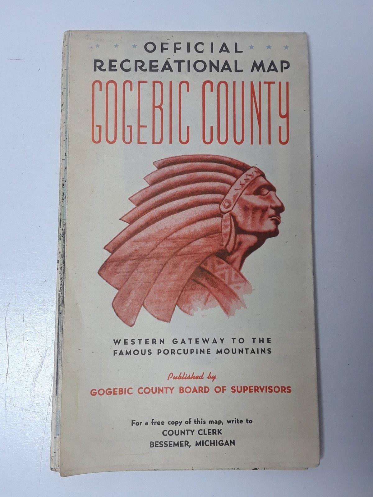 Vintage Michigan travel brochure Gogebic County Vintage