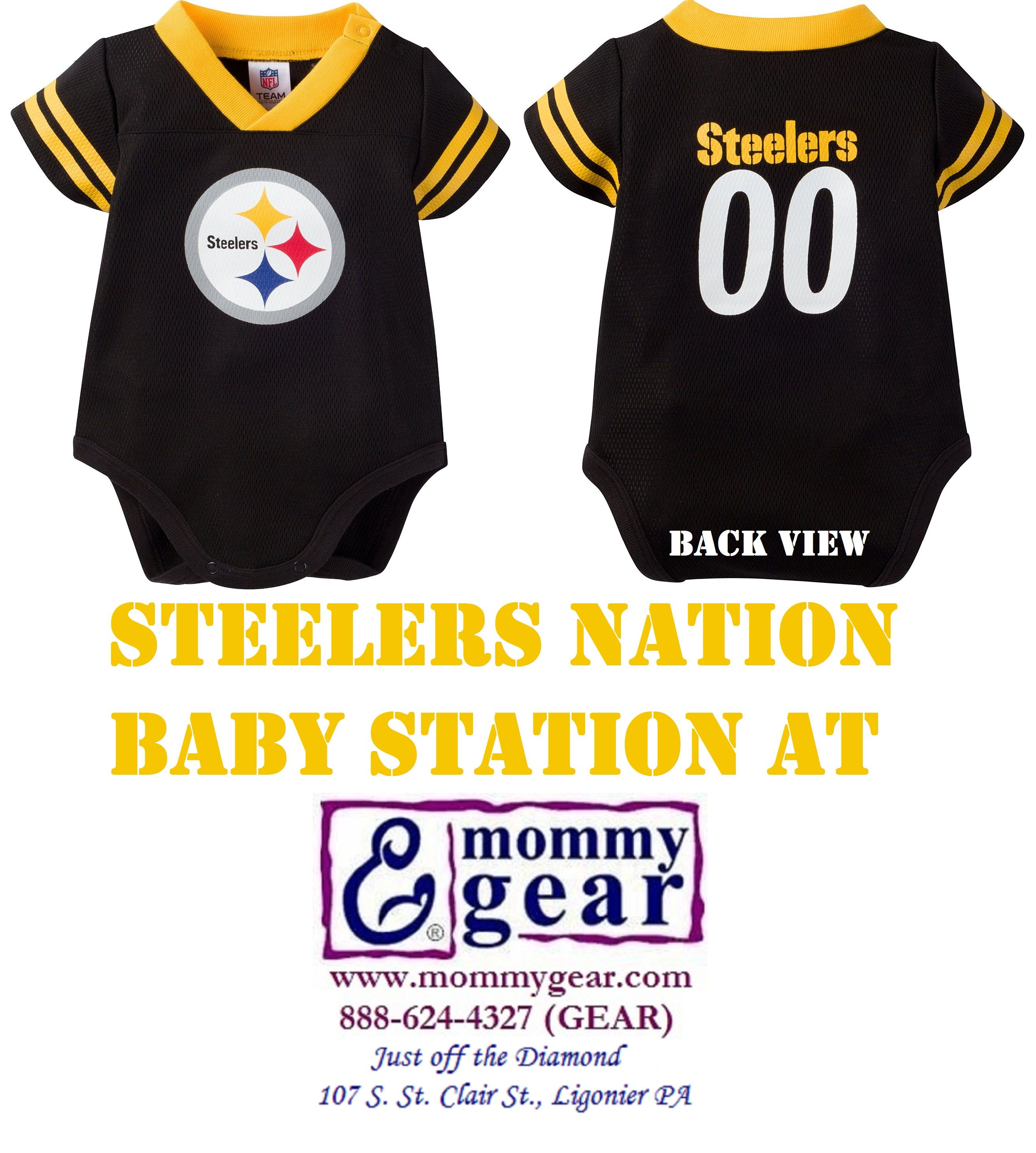 Steelers Baby Waffle Weave Players Jersey at Mommy Gear Choose 0 3