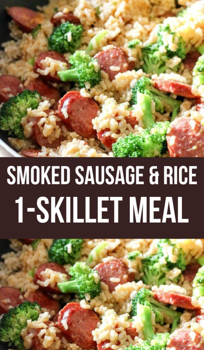 Smoked Sausage & Rice One-Skillet Meal