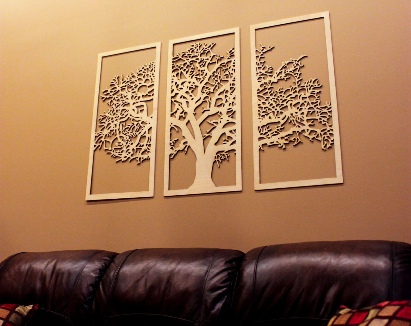 3d tree of life 3 panel wood wall art beautiful living room decor by - Interior Design Wall Decor