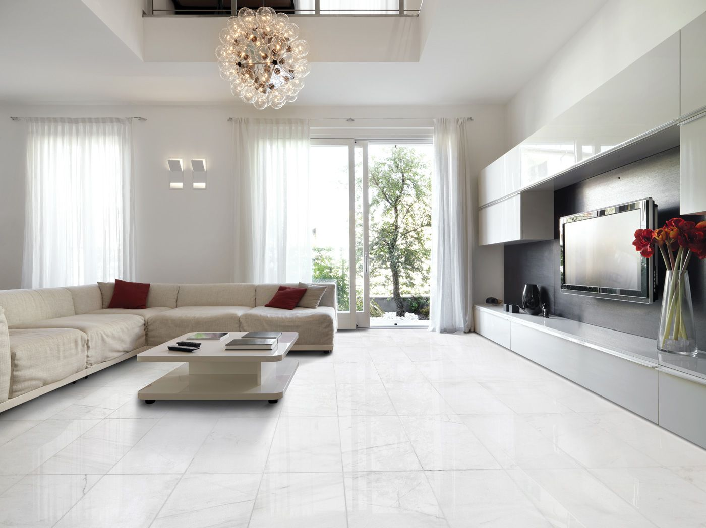 Snow White Polished Marble Collection From Marble Systems Inc Marblesystems Livingroom Wood Effect Floor Tiles Flooring Modern Floor Tiles #white #tiles #living #room