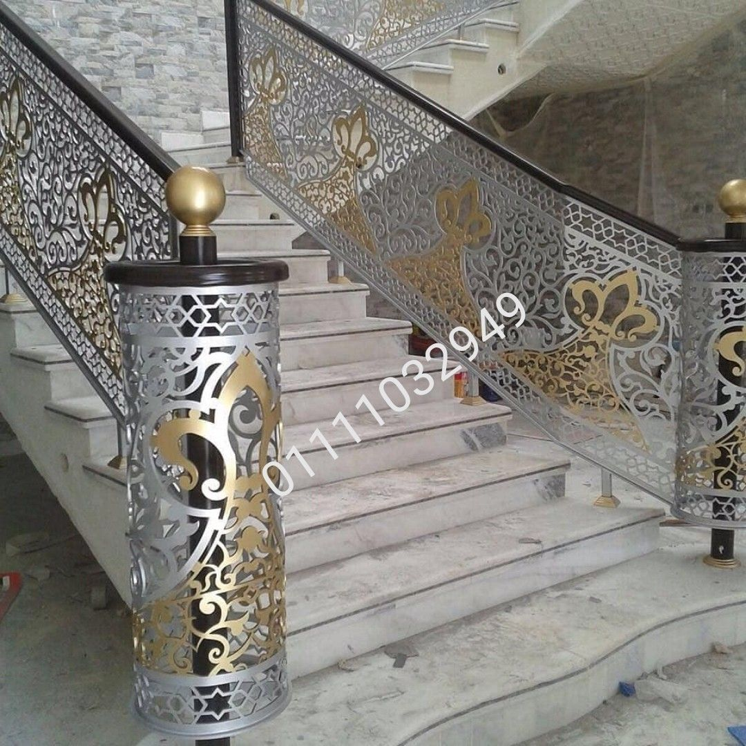 درابزين حديد قص ليزر ٤ملم Staircase Design Home Decor Design