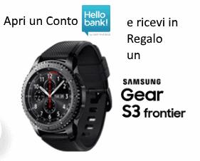 Hellobank Ti Regala Uno Smartwatch Samsung Gear S3 Frontier Contocorrente Regalo Orologio Settembre2017 Ottobre2017 Settembre Ott Smartwatch Samsung
