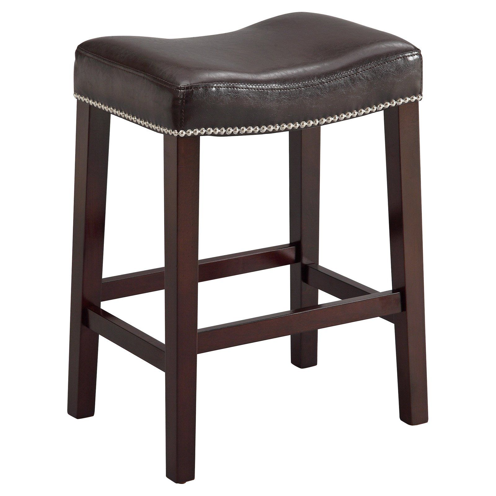 Crown Mark Nadia 24 In Backless Counter Stool Espresso Bar Stools Counter Height Stools Stool