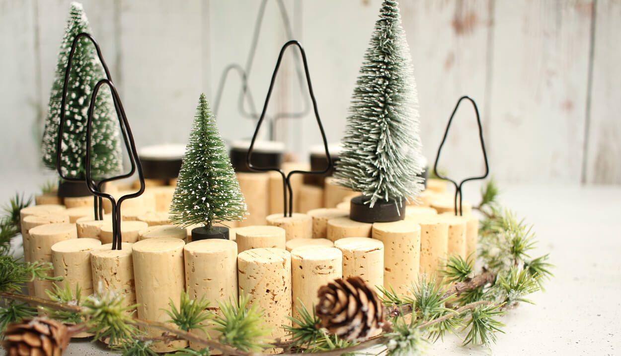 diy adventskranz aus korken das passt wreaths diy. Black Bedroom Furniture Sets. Home Design Ideas