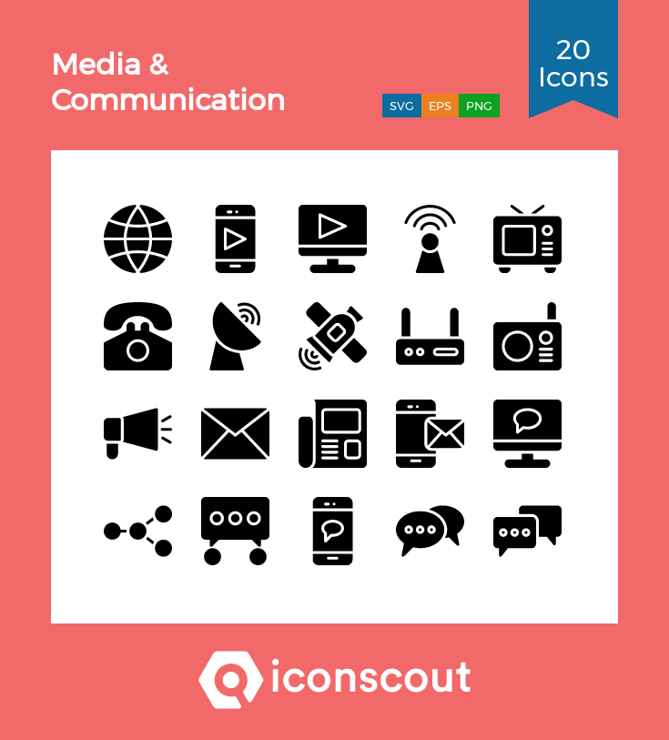 Download Media Communication Icon Pack Available In Svg Png Eps Ai Icon Fonts Communication Icon Media Communication Glyph Icon