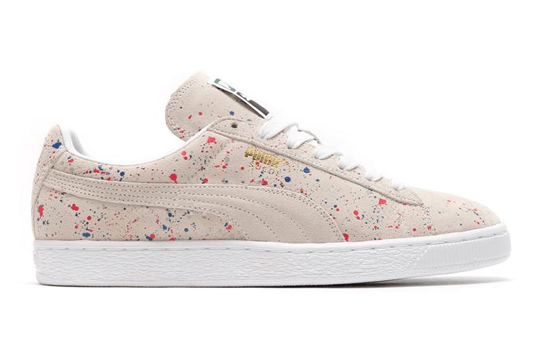Puma Suede Classic Allover Splatter White-White Sneakers - White-White - Women's Sneakers