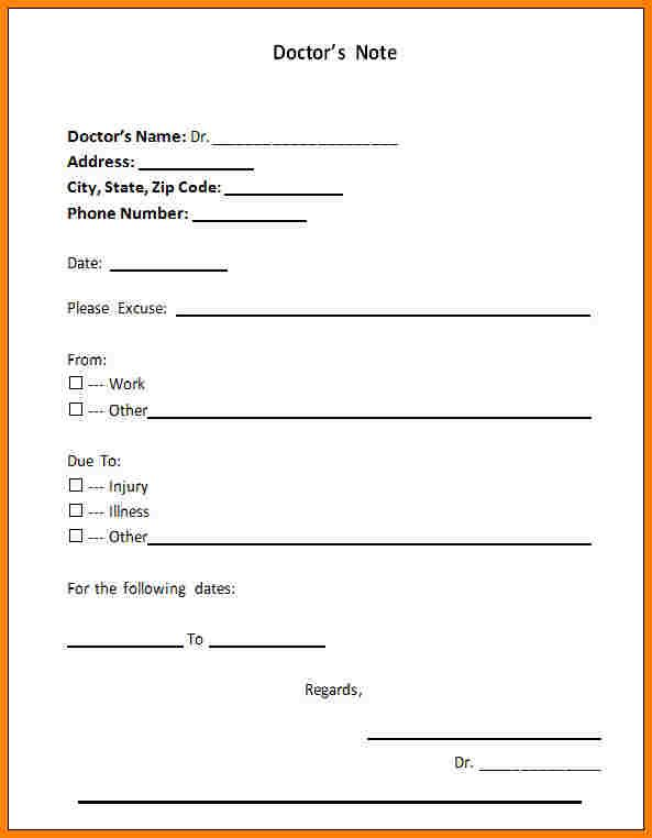 Pin By Drive On Template Doctors Note Template Doctors