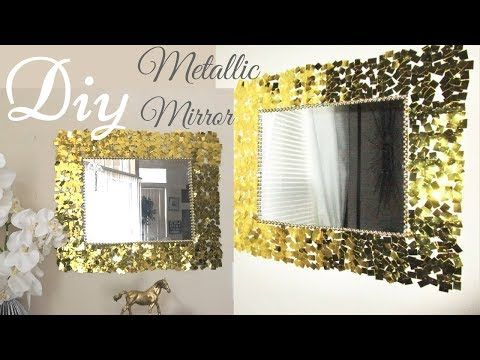 DIY gold mirror | DIY IDEAS | Pinterest | Gold walls, Gold wall ...