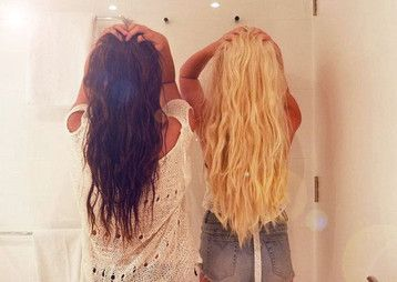 tumblr+best+friend+pictures | best friends, blonde and brunette, friends, hair, two girls ...