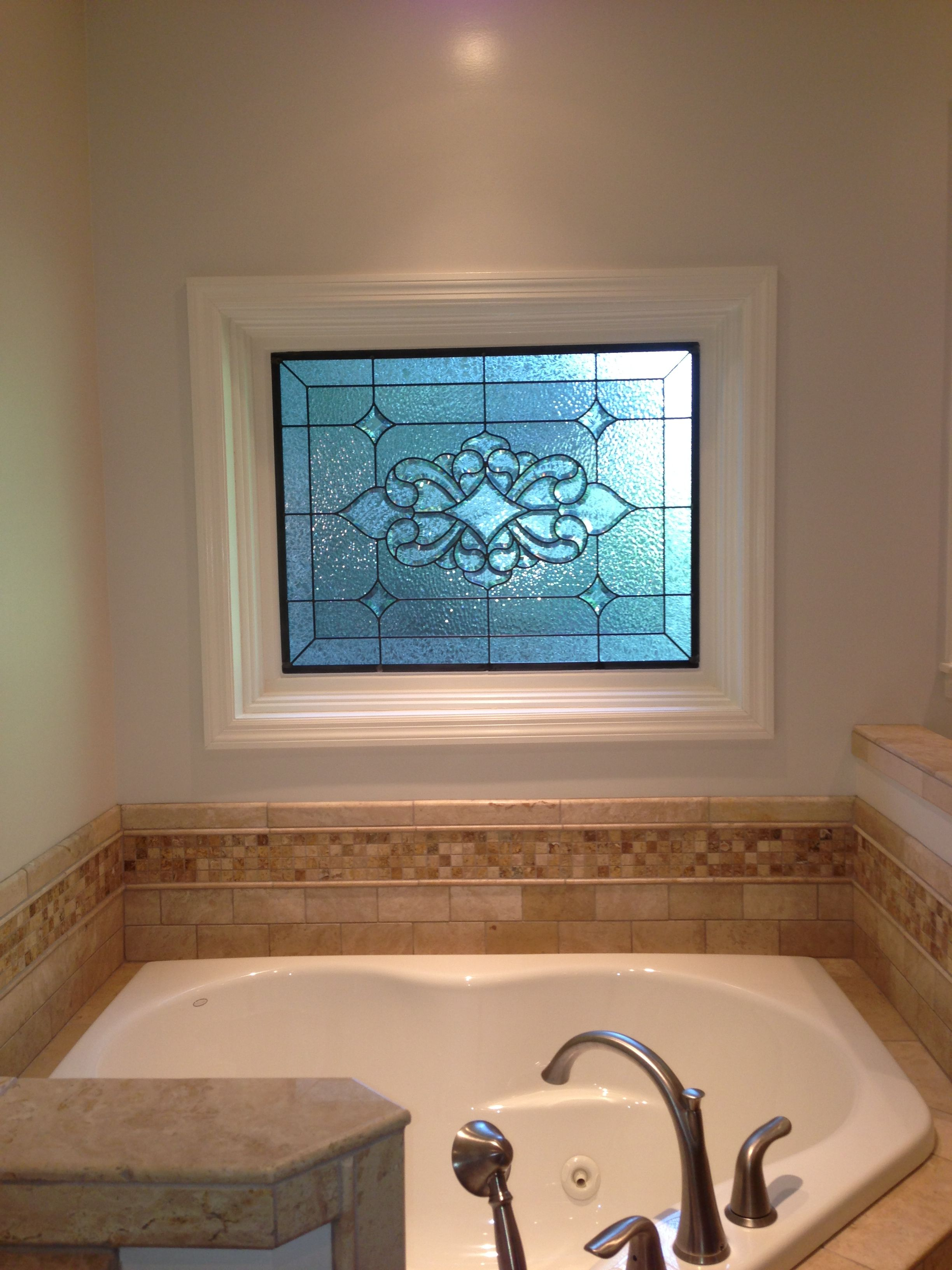 Stained Glass Window Over Whirlpool Tub Tubs In 2019