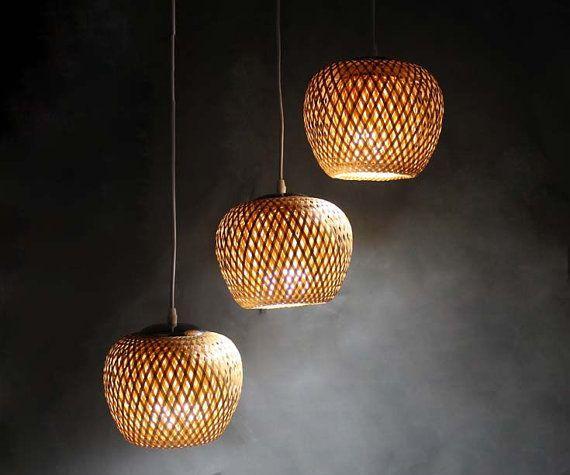 New Bamboo Lamp Fixtures Pendant Lights Chandelier Ceiling Etsy In 2020 Bamboo Lamp Pendant Lights Chandeliers Bamboo Pendant Light