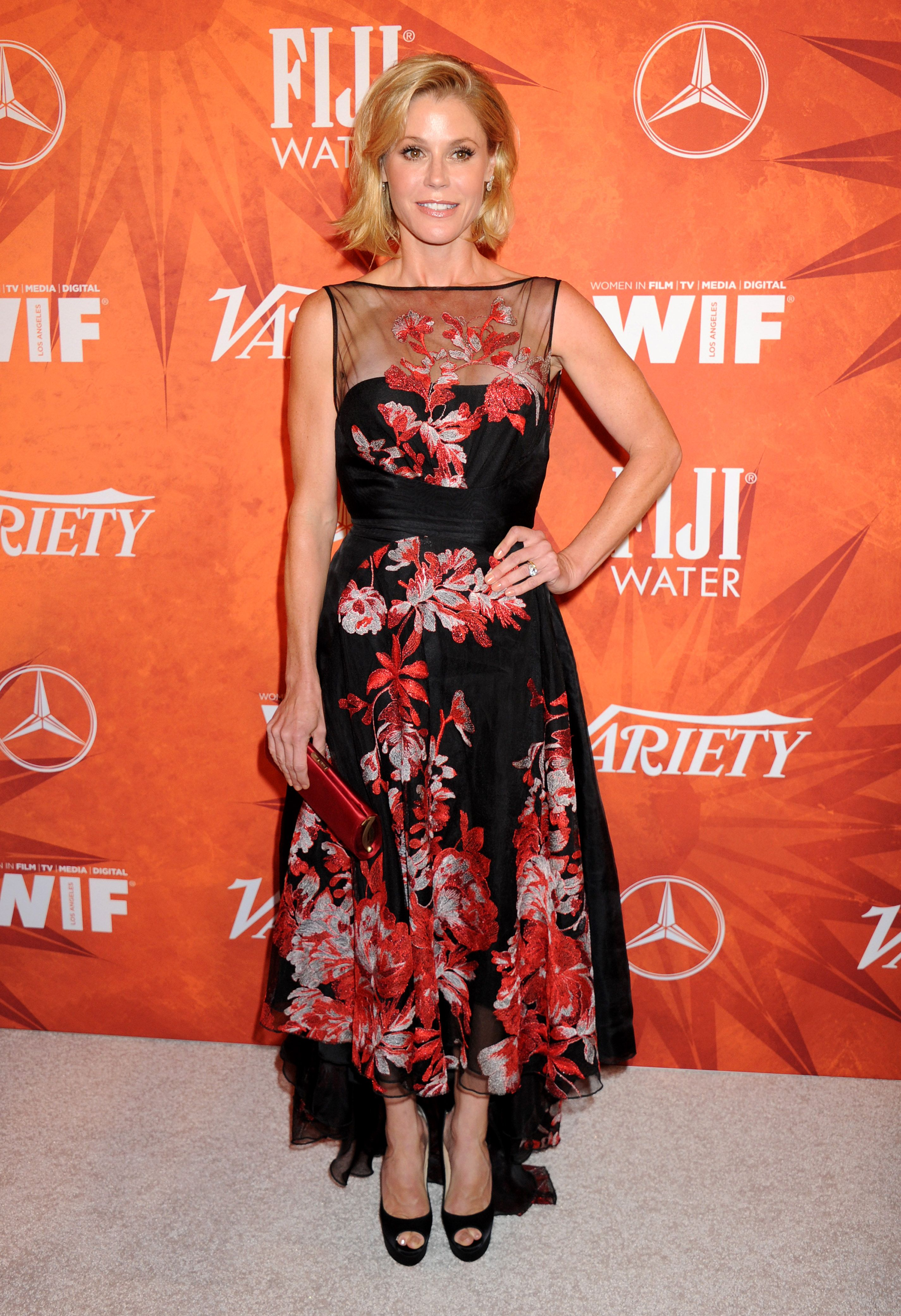 Julie Bowen arrives at the Variety And Women In Film Annual Pre-Emmy Celebration at Gracias Madre on September 18, 2015 in West Hollywood, California.