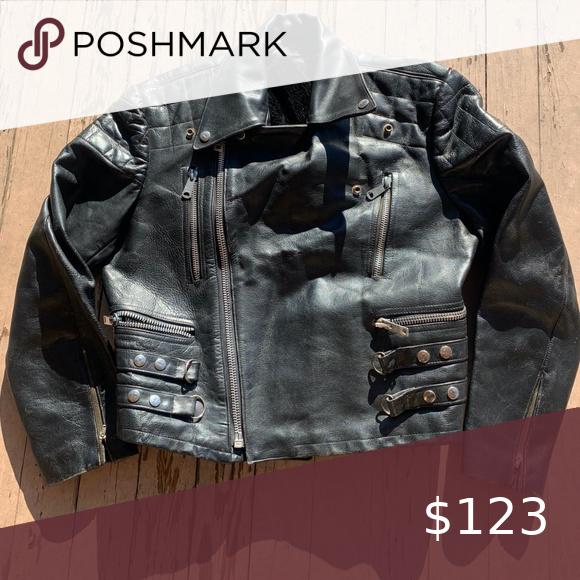 Vintage Pierre Cardin 80s Leather Moto Jacket Sz L Leather Moto Jacket Moto Jacket Jackets