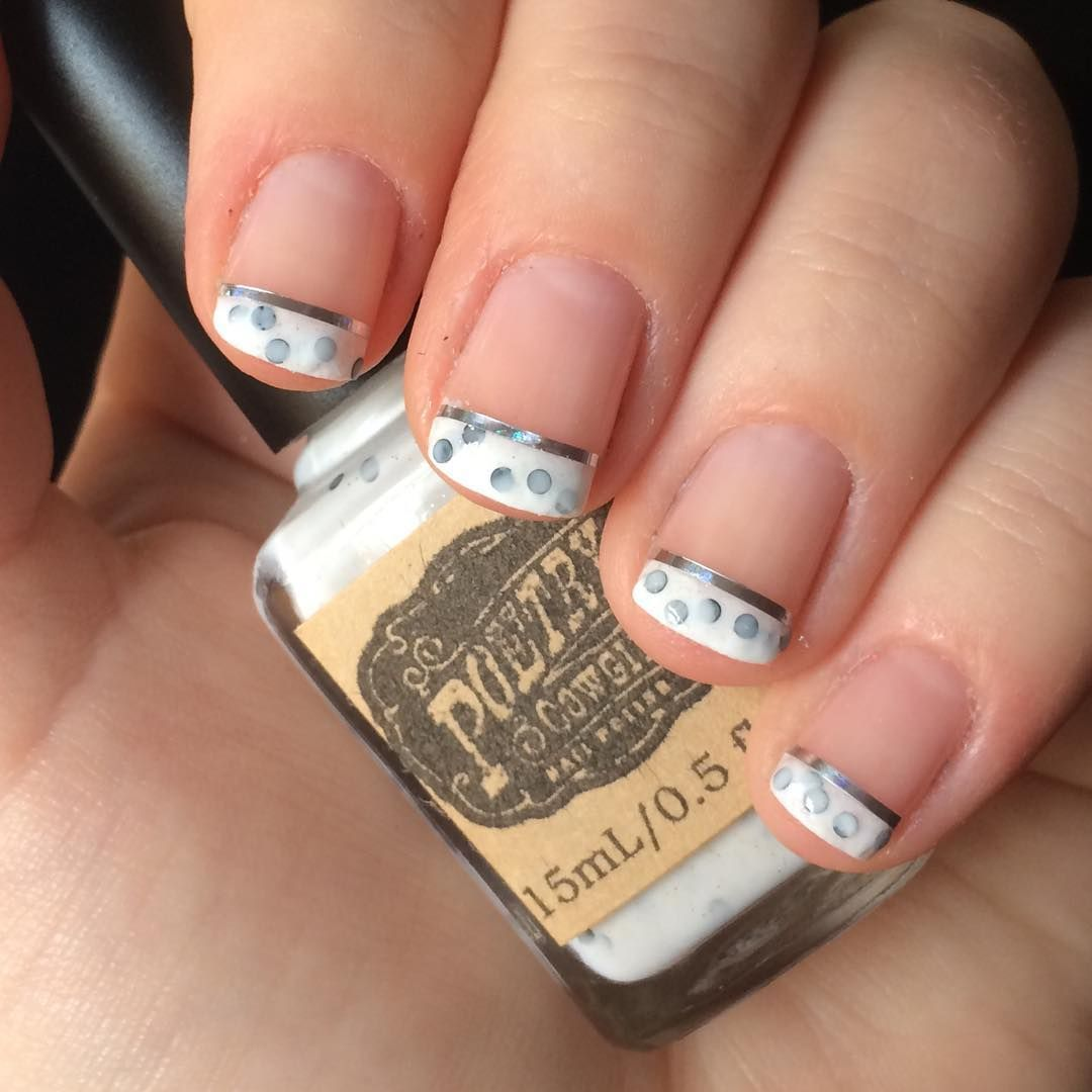 nnmnails on Instagram: manicure french tip striping tape nail art ...