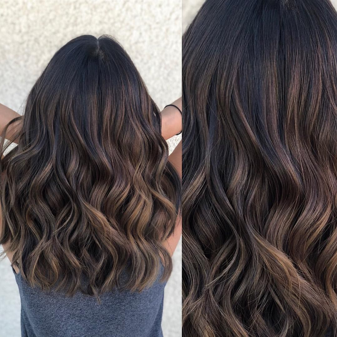 """Los Angeles Hairstylist/color on Instagram: """"Freehand Balayage on Virgin hair  Im obsessed with this rich warm brunette"""