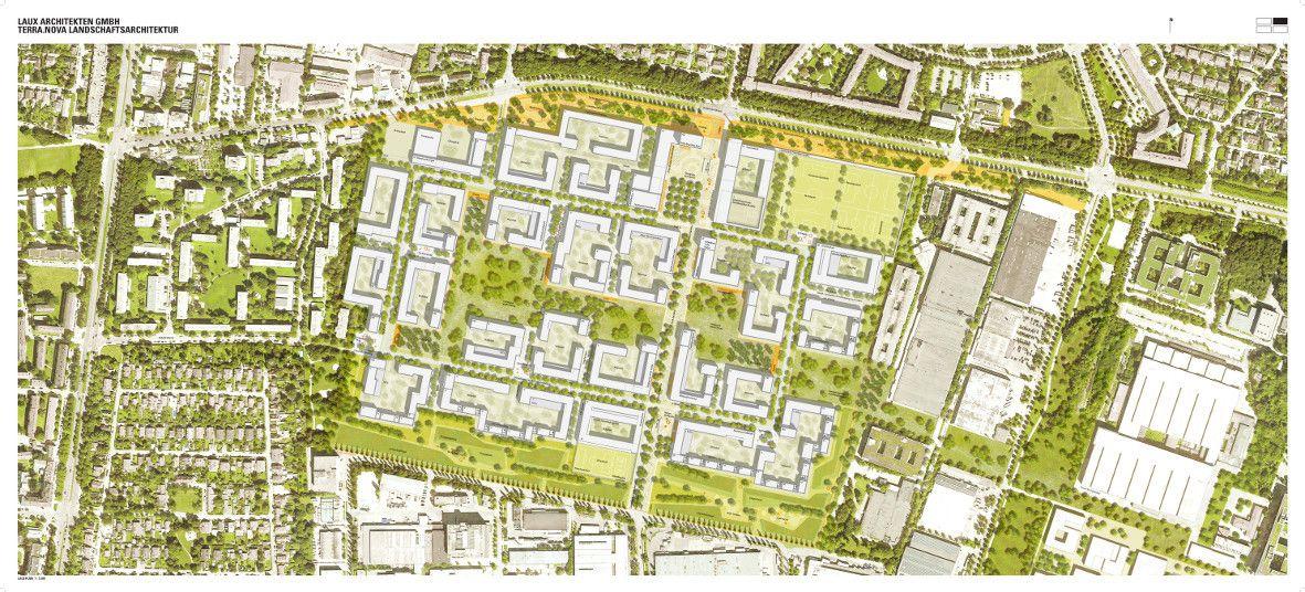 Landschaftsarchitektur München heimat in der bayernkaserne wettbewerb in münchen entschieden