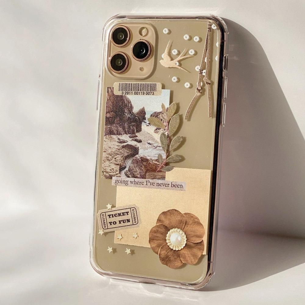 Going Places Collage Clear Phone Case - iPhone XS Max
