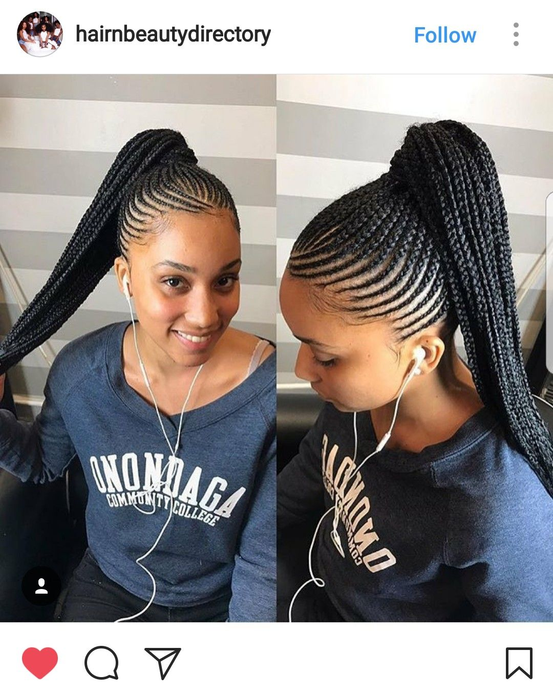 Pin by hafanda on braid | Braided ponytail hairstyles, African braids hairstyles, Braids for ...