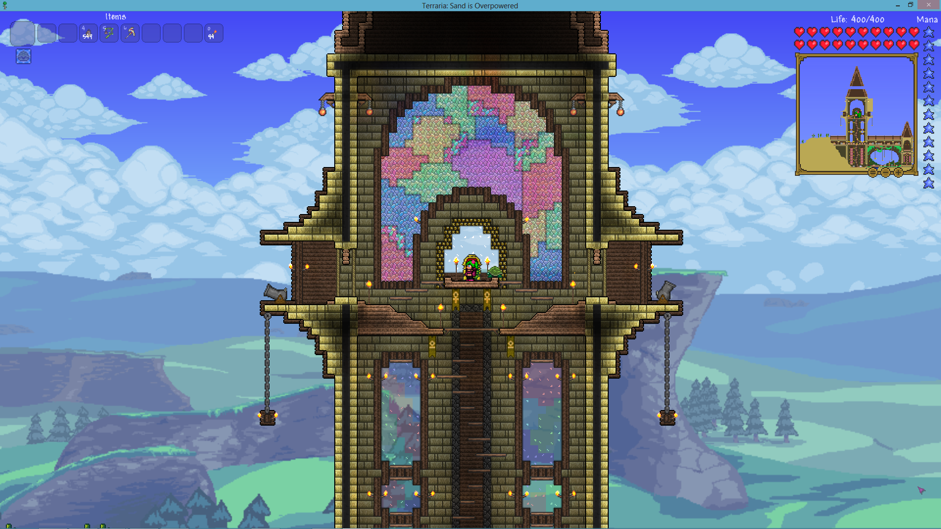 Terraria--cathedral and bell tower | Terraria and Starbound