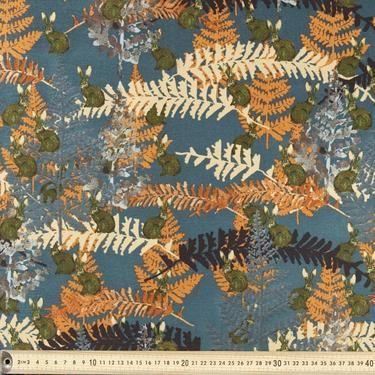 Woodland Camo Faux Silk Suit Rust 148 cm