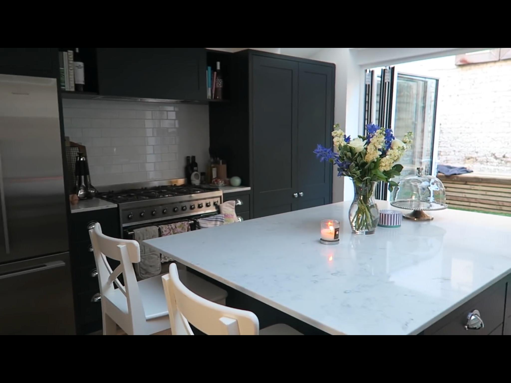 Tanya Burr Jim Chapman S New Kitchen Love The Quartz Top And