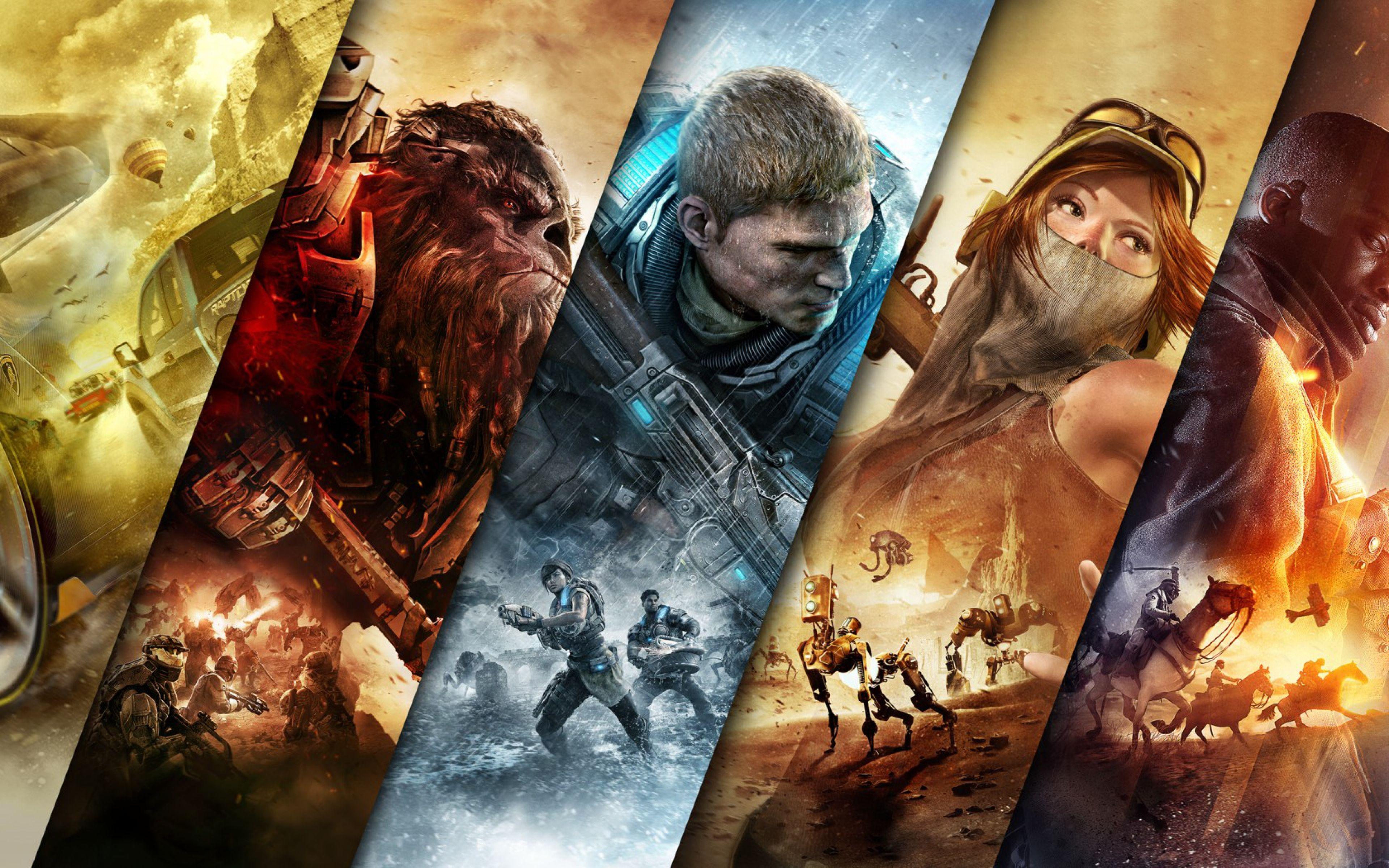 3840x2400 Wallpaper Forza Horizon 3 Halo Wars 2 Gears Of War 4 Recore Battlefield 1 Pc Games Wallpapers Xbox Games Gears Of War