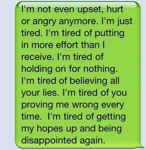 Just so tired :(