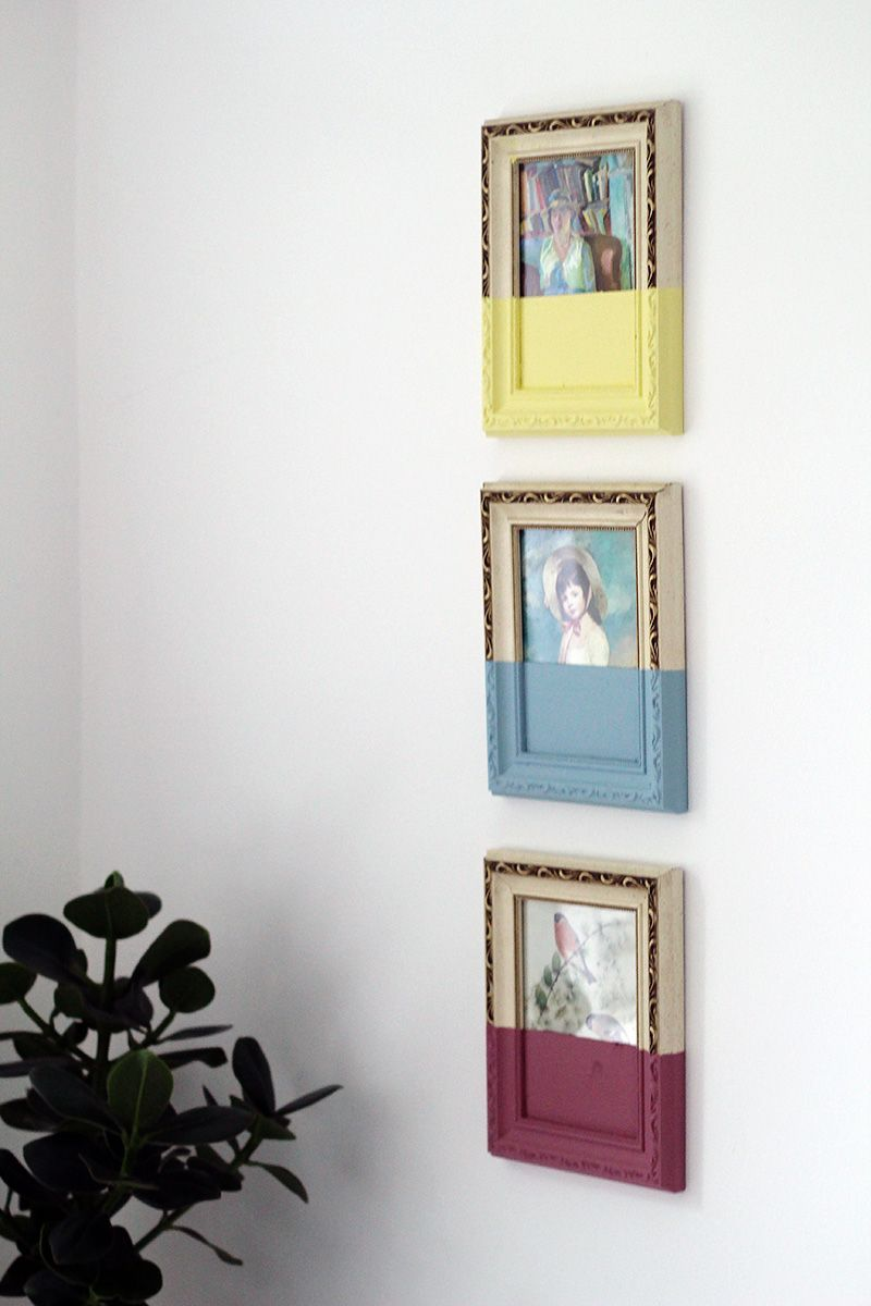 Paint dipped picture frames paint dipping dips and upcycling paint dipped picture frames jeuxipadfo Choice Image