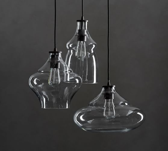 Pottery Barn Ceiling Light Fixtures: McCarthy 3-Light Glass Pendant At Pottery Barn In 2019
