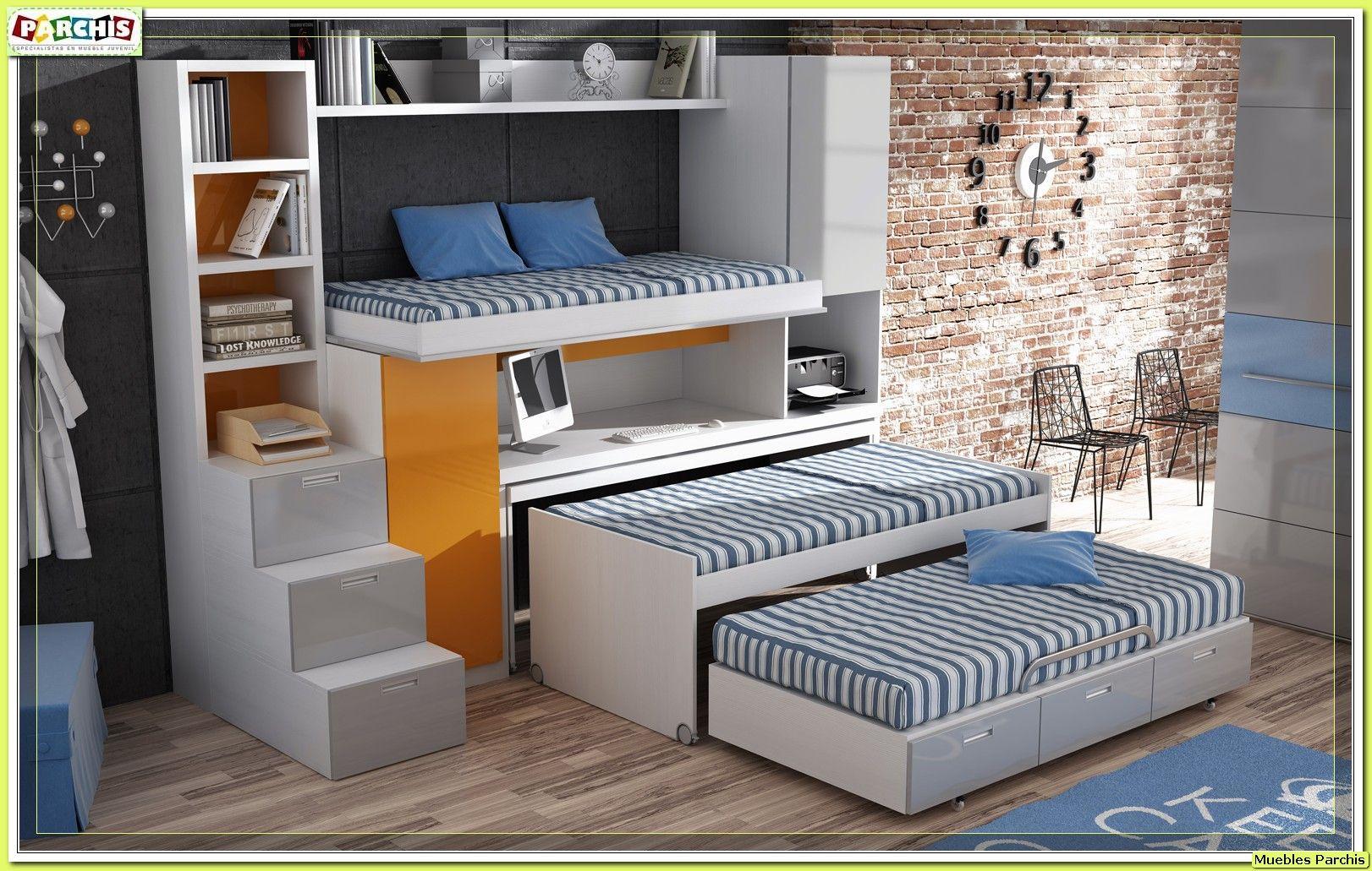 Literas triples para pladur sin anclar a la pared mueble - Literas para ninos pequenos ...
