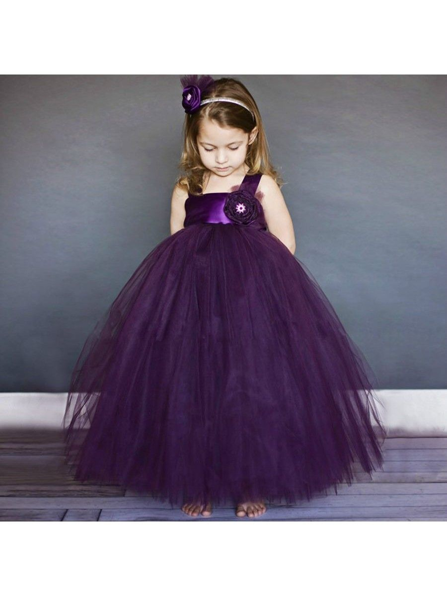 Long purple tulle princess ball gown flower girl dresses 5501041 long purple tulle princess ball gown flower girl dresses 5501041 izmirmasajfo Images