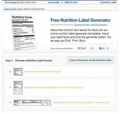 free nutrition label generator nutritionfactslabel nutrition