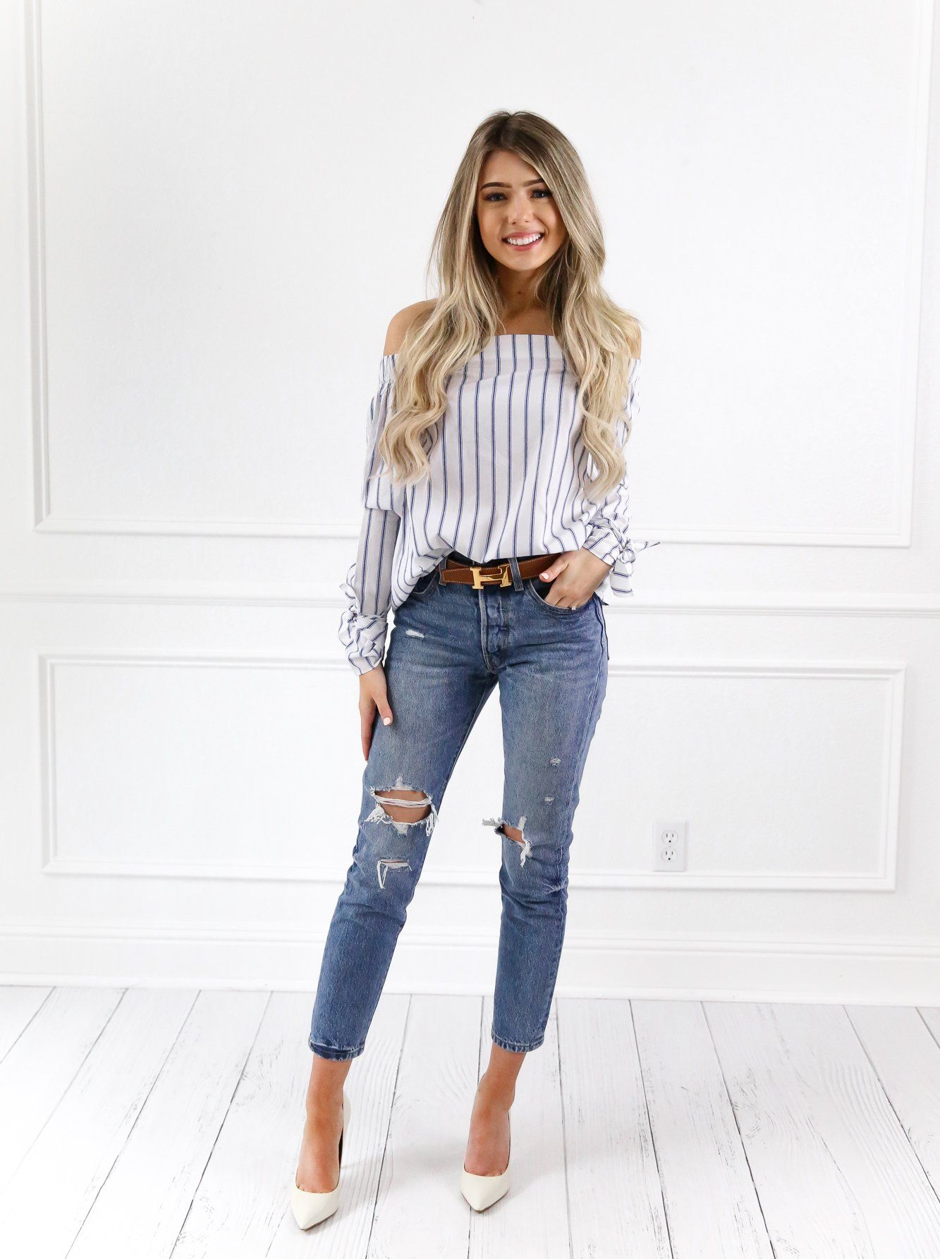 2fa23433f2d Cindy Off shoulder Top - Off The Shoulder - Long Sleeve - Bow-Tie Sleeve