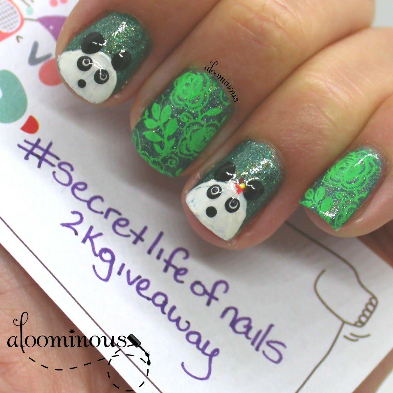 Panda nails for the instagrams: secretlifeofnails 2k giveaway ...