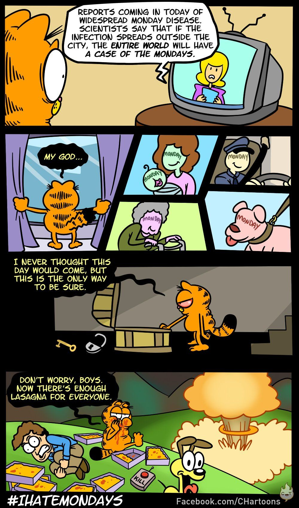Garfield vs Mondays Very funny pictures, Image comics