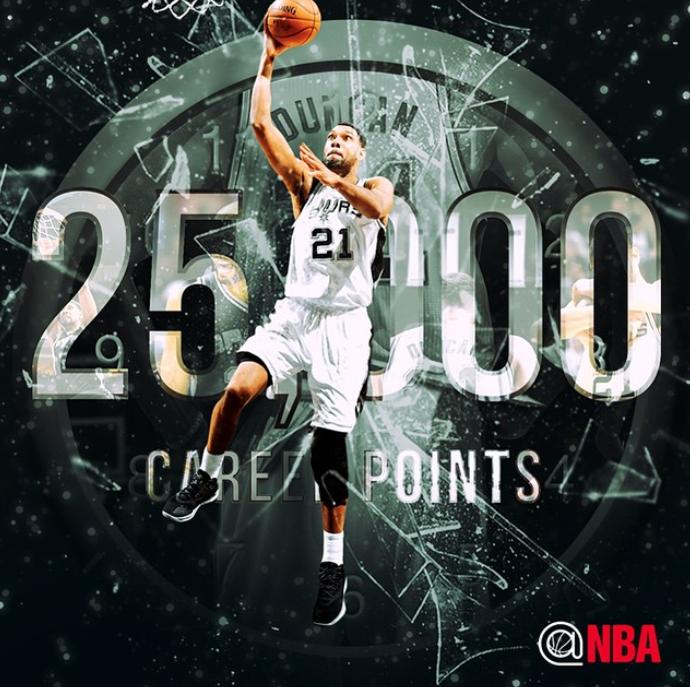 Duncan Llega A Los 25 000 Puntos En La Nba With Images Nba Spurs Basketball Tim Duncan