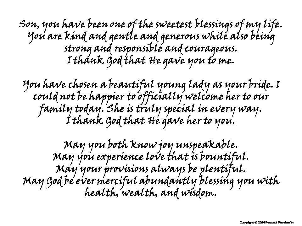 Blessing From Mother Of The Groom Printable Prayer For Groom Reception Blessing Mother Of The Groom Wed Mother Of Groom Speech Wedding Speech Groom S Speech