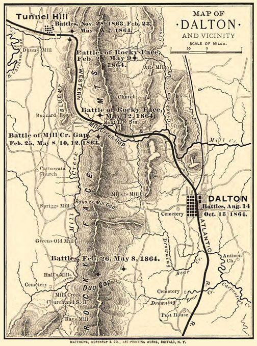 Map Of Dalton Ga Area Civil War Battles Http Northgeorgiatoyota