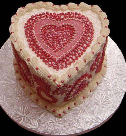 Red heart velvet cake. @Kinsey Steinberger