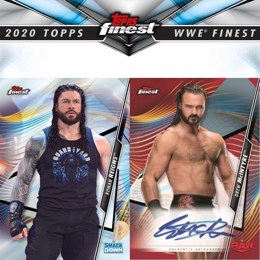 2020 topps finest wwe checklist set info boxes date